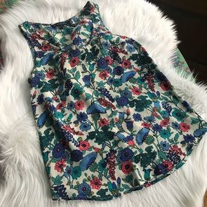 French Connection Sleeveless Silk Blouse